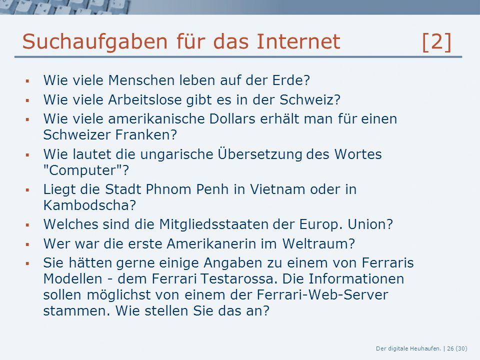 Suchaufgaben für das Internet [2]